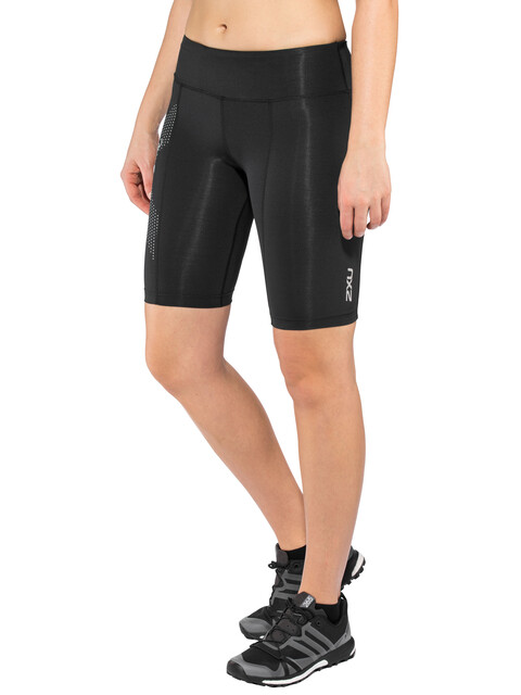 2XU Compression Shorts Women Mid-Rise black/dotted reflective logo